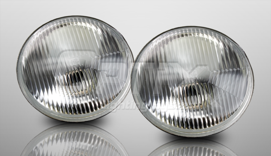 h6024 7 round sealed beam headlight housing with h4. Black Bedroom Furniture Sets. Home Design Ideas